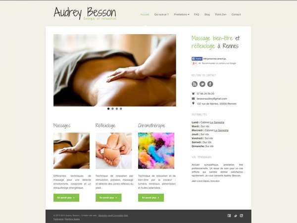 Audrey Besson, massage à Rennes