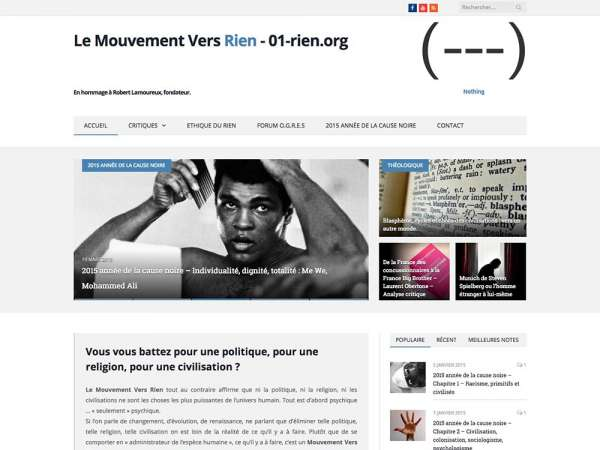 Le Mouvement vers Rien