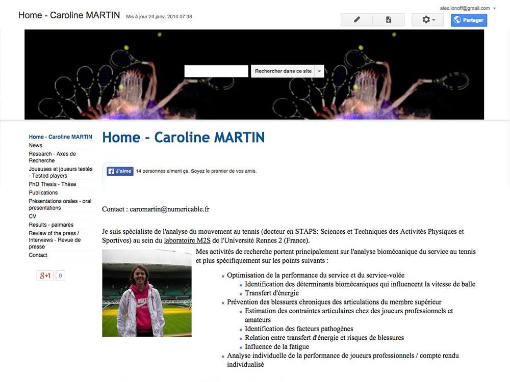 Caroline Martin ancien site