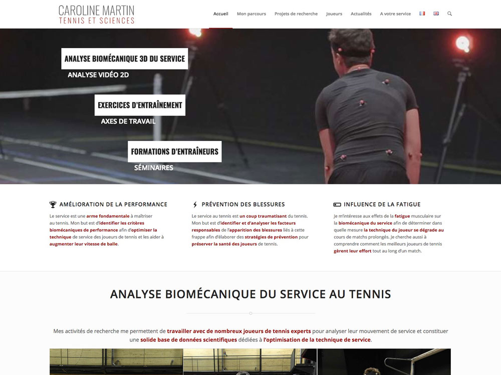 Caroline Martin, Tennis et Sciences