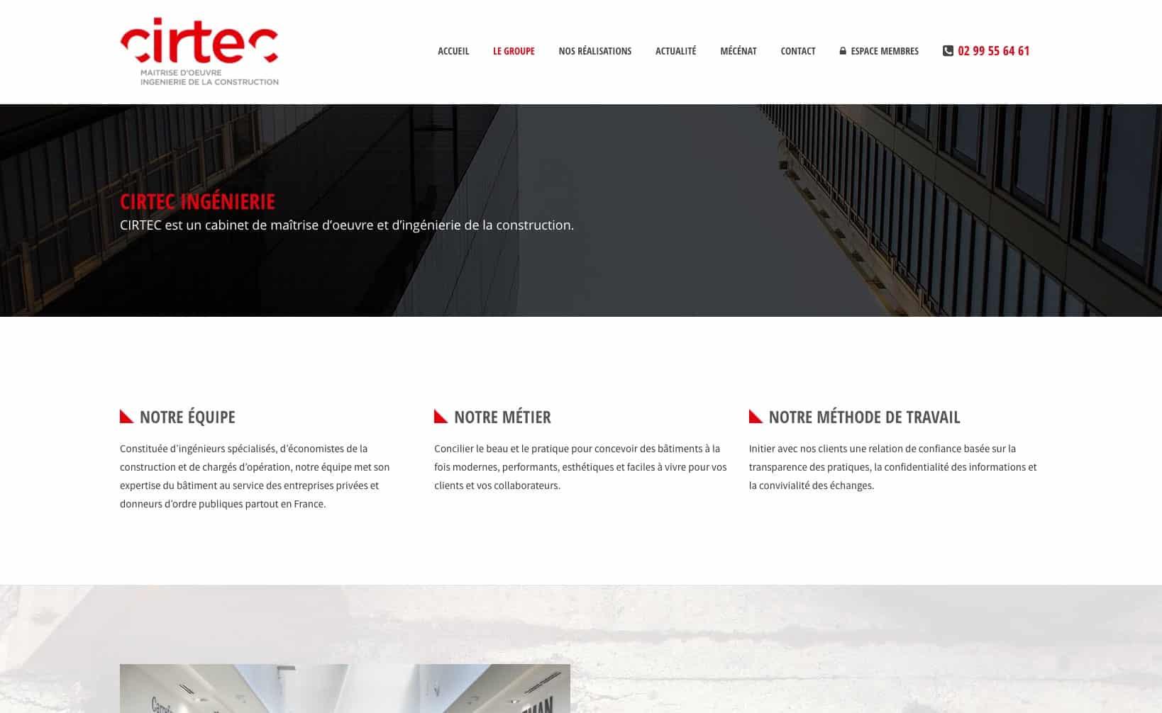 Site web Cirtec - vue desktop 3
