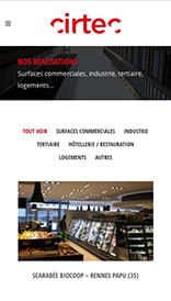 Site web Cirtec - vue mobile 2