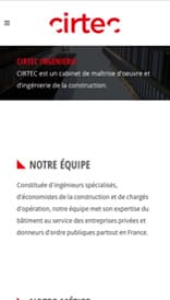 Site web Cirtec - vue mobile 3