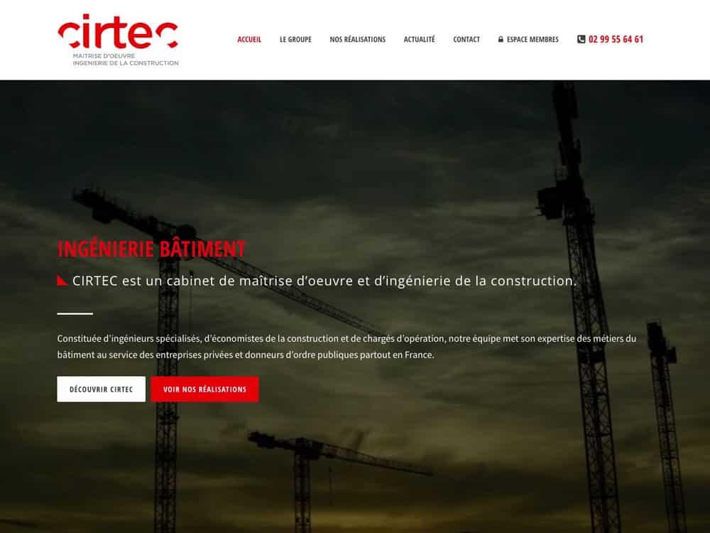Site web Cirtec - vue desktop 1