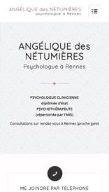 Site web Angélique des Nétumières - vue mobile 1