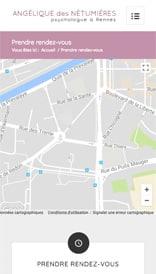 Site web Angélique des Nétumières - vue mobile 3