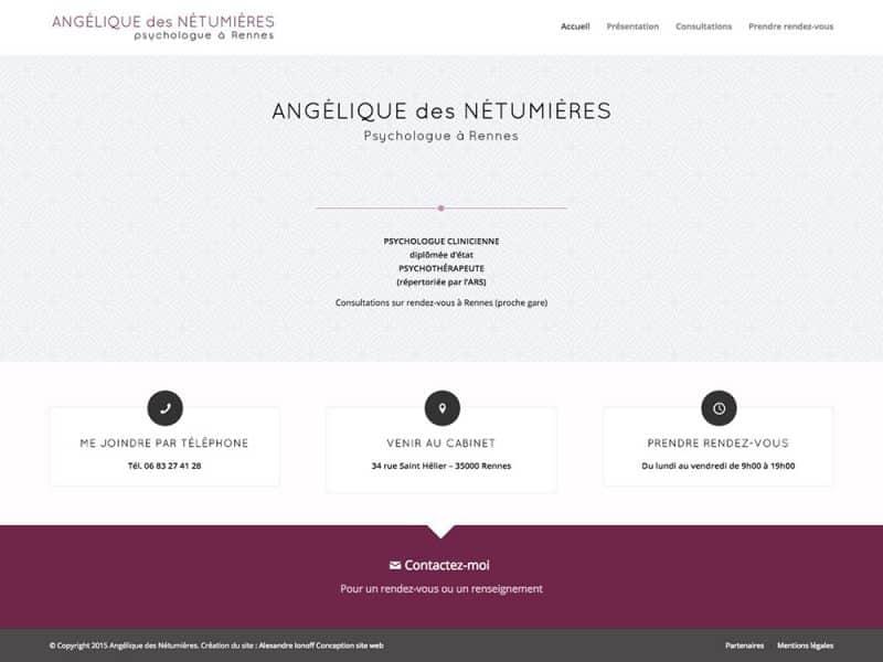 Site web Angélique des Nétumières