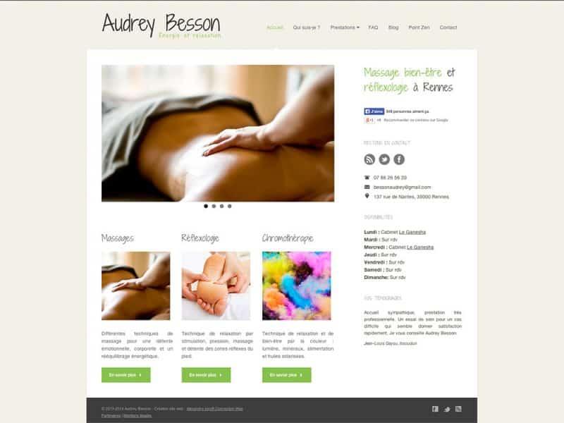 Site web Audrey Besson