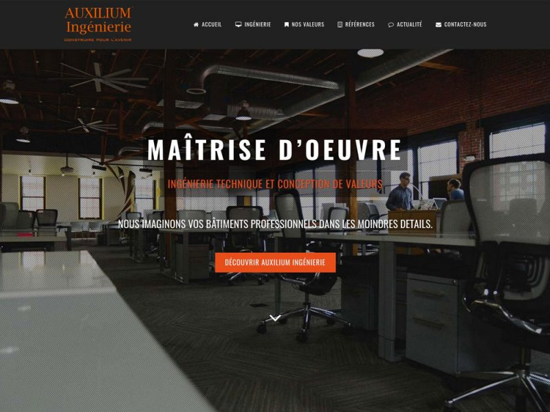 Site web Auxilium Ingénierie