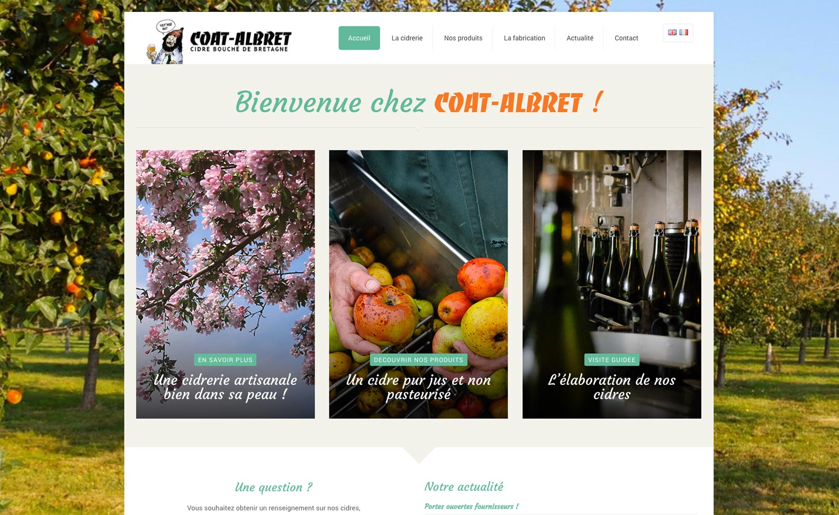 Site web Coat Albret - vue desktop 1