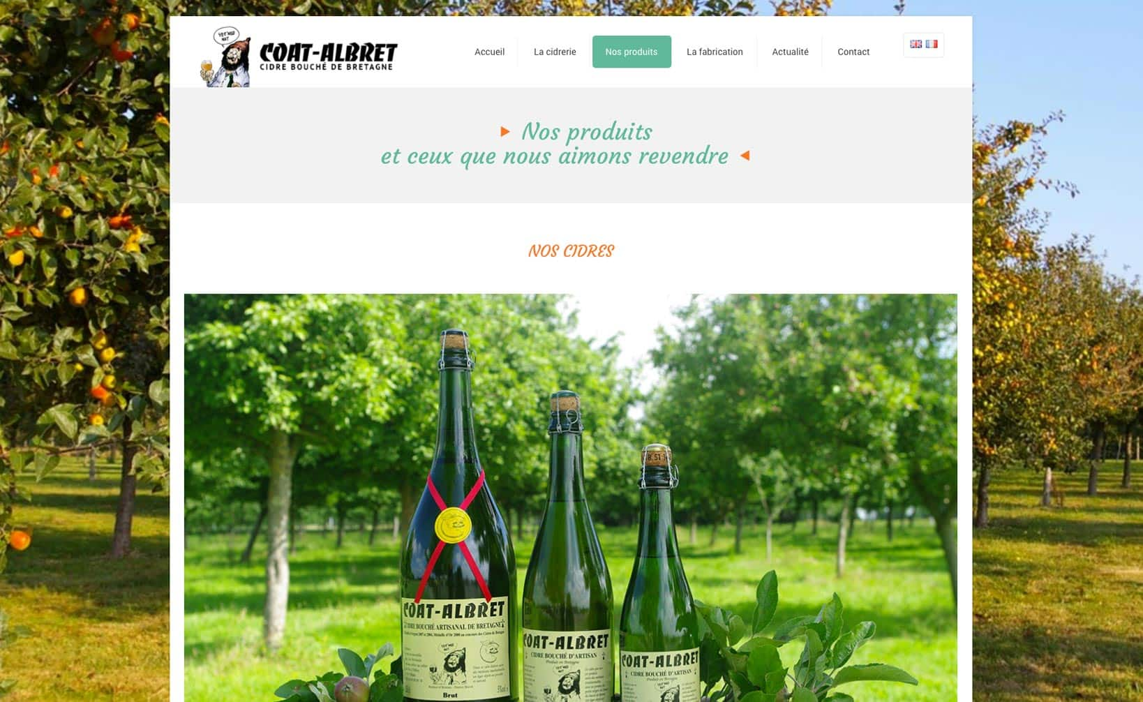 Site web Coat Albret - vue desktop 2