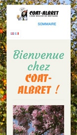 Site web Coat Albret - vue mobile 1