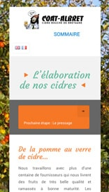 Site web Coat Albret - vue mobile 3
