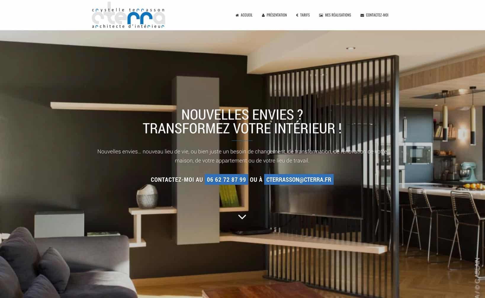 Site web Cterra - vue desktop 1