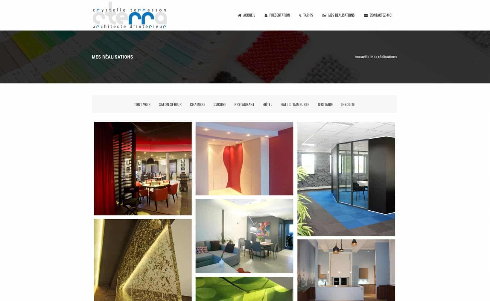 Site web Cterra - vue desktop 2