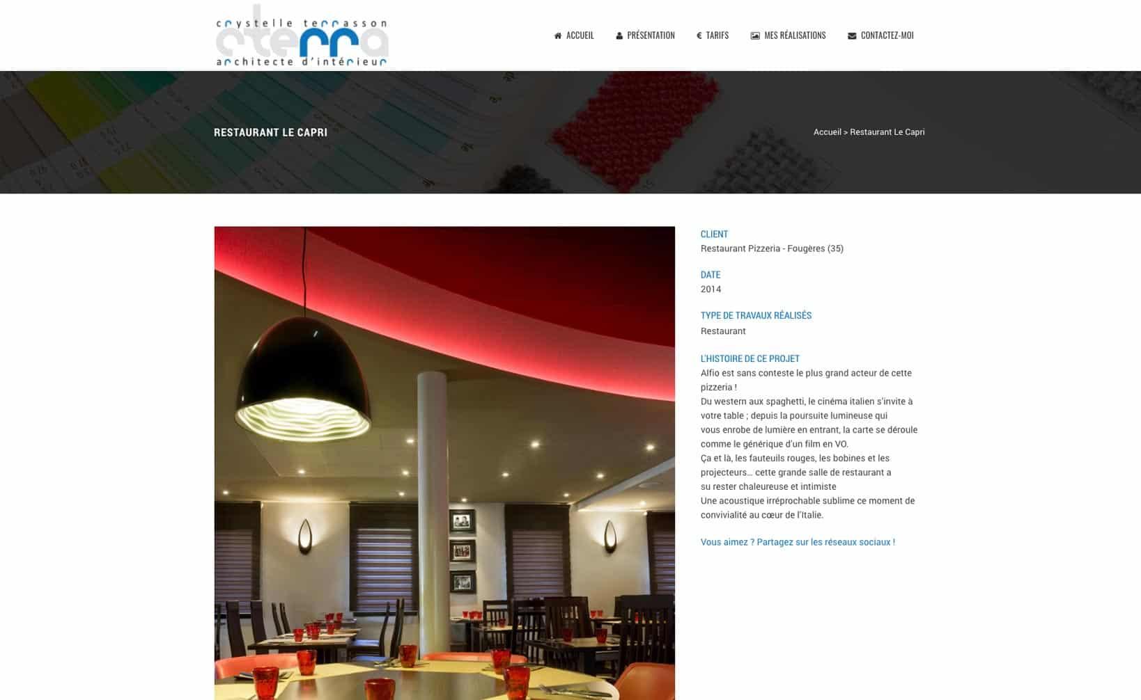 Site web Cterra - vue desktop 3