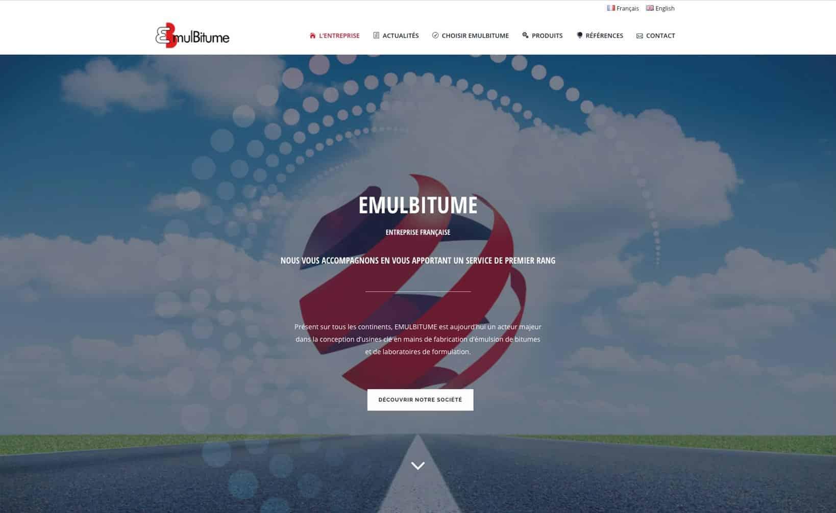 Site web Emulbitume - vue desktop 1