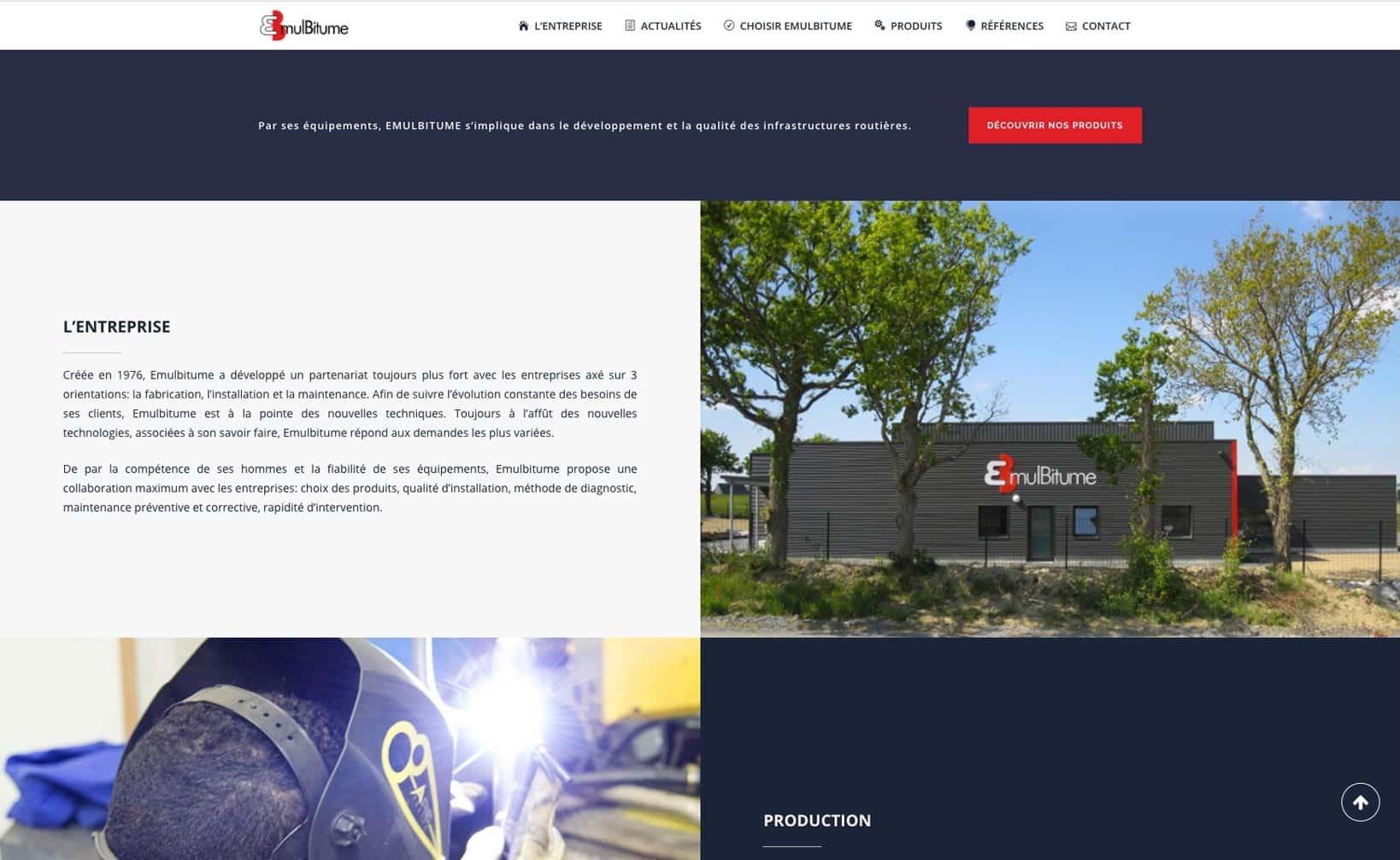 Site web Emulbitume - vue desktop 2