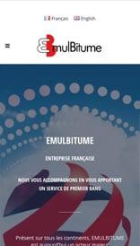 Site web Emulbitume - vue mobile 1