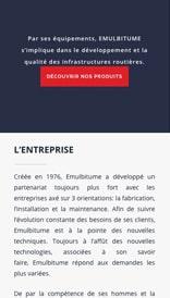 Site web Emulbitume - vue mobile 2