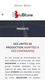 Site web Emulbitume - vue mobile 3