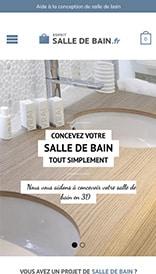 Site web Esprit Salle de Bain - vue mobile 1