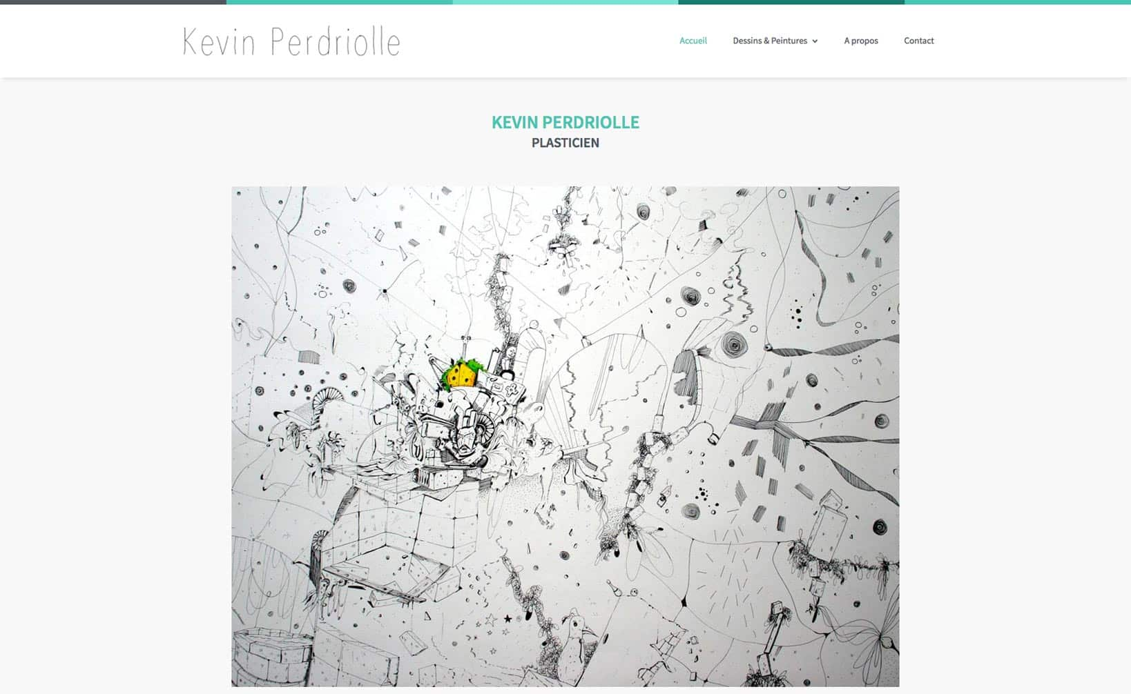 Site web Kevin Perdriolle - vue desktop 1