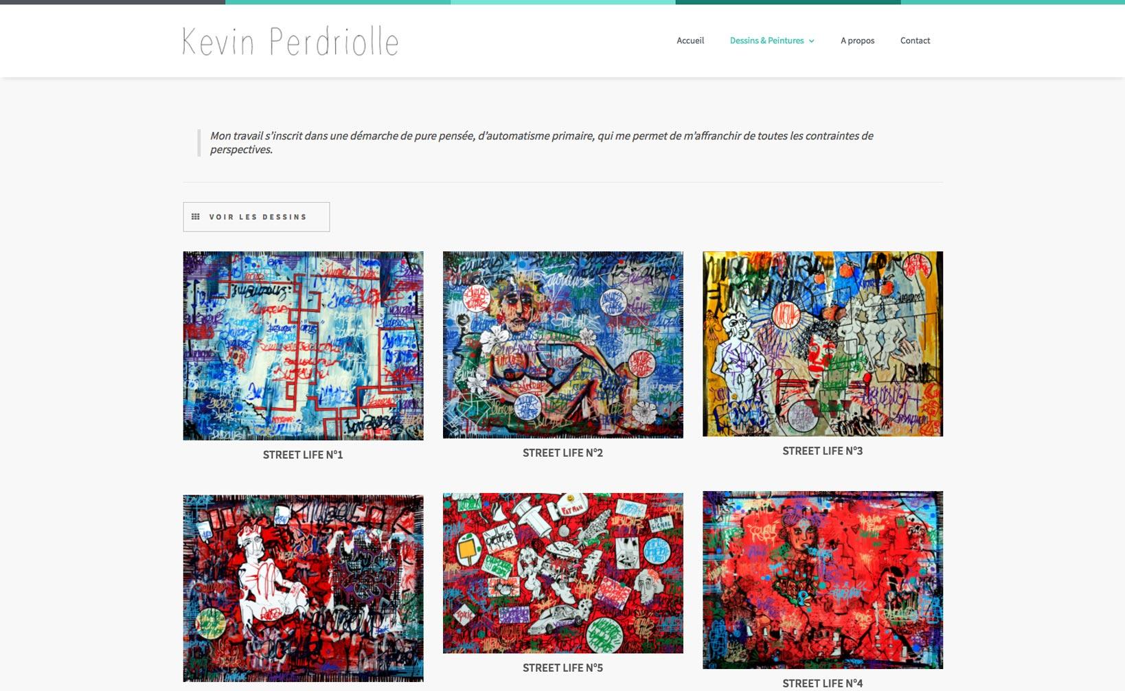 Site web Kevin Perdriolle - vue desktop 2