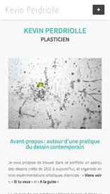 Site web Kevin Perdriolle - vue mobile 1