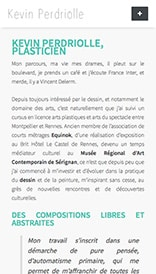 Site web Kevin Perdriolle - vue mobile 3