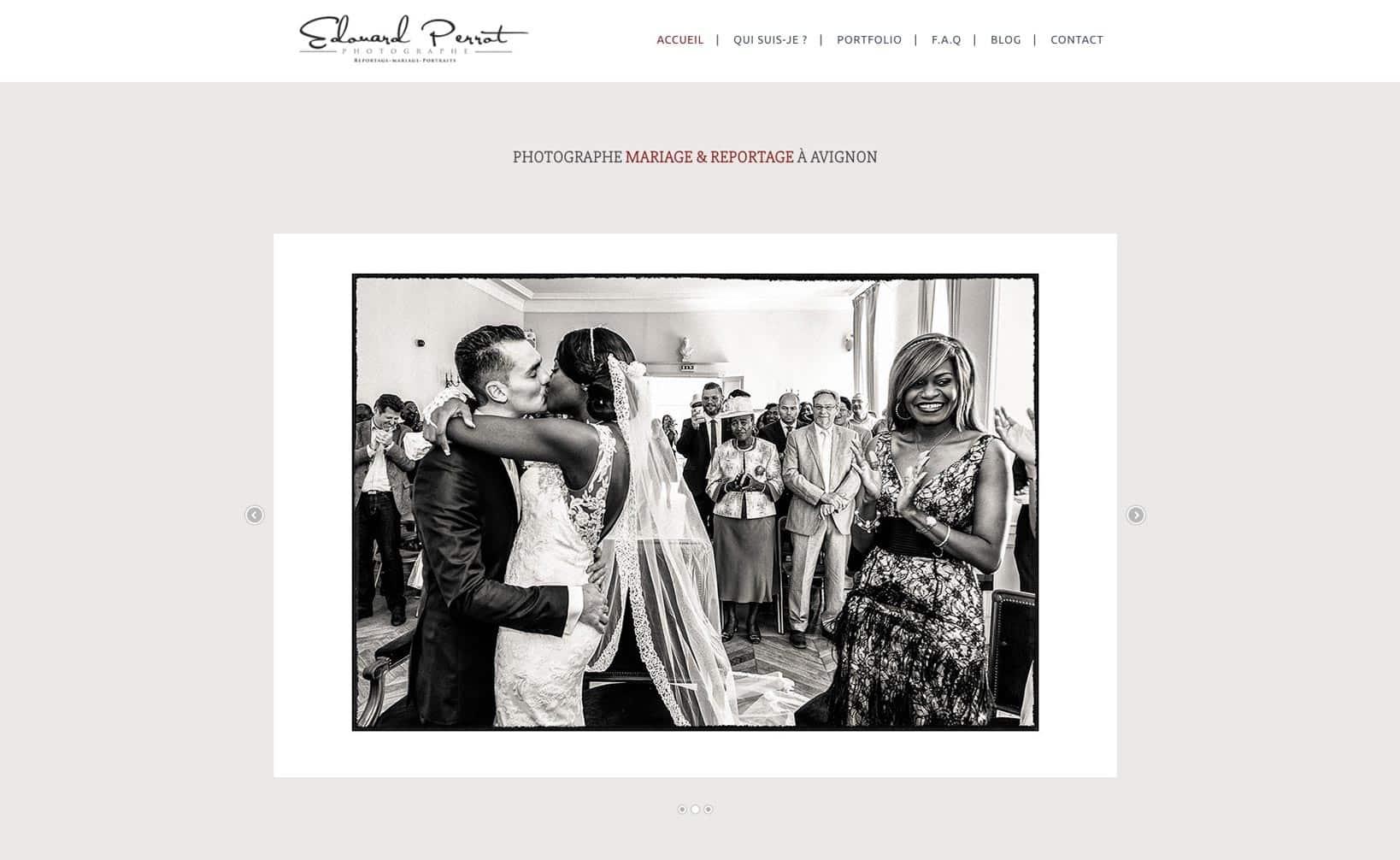 Site web Provence Photos - vue desktop 1