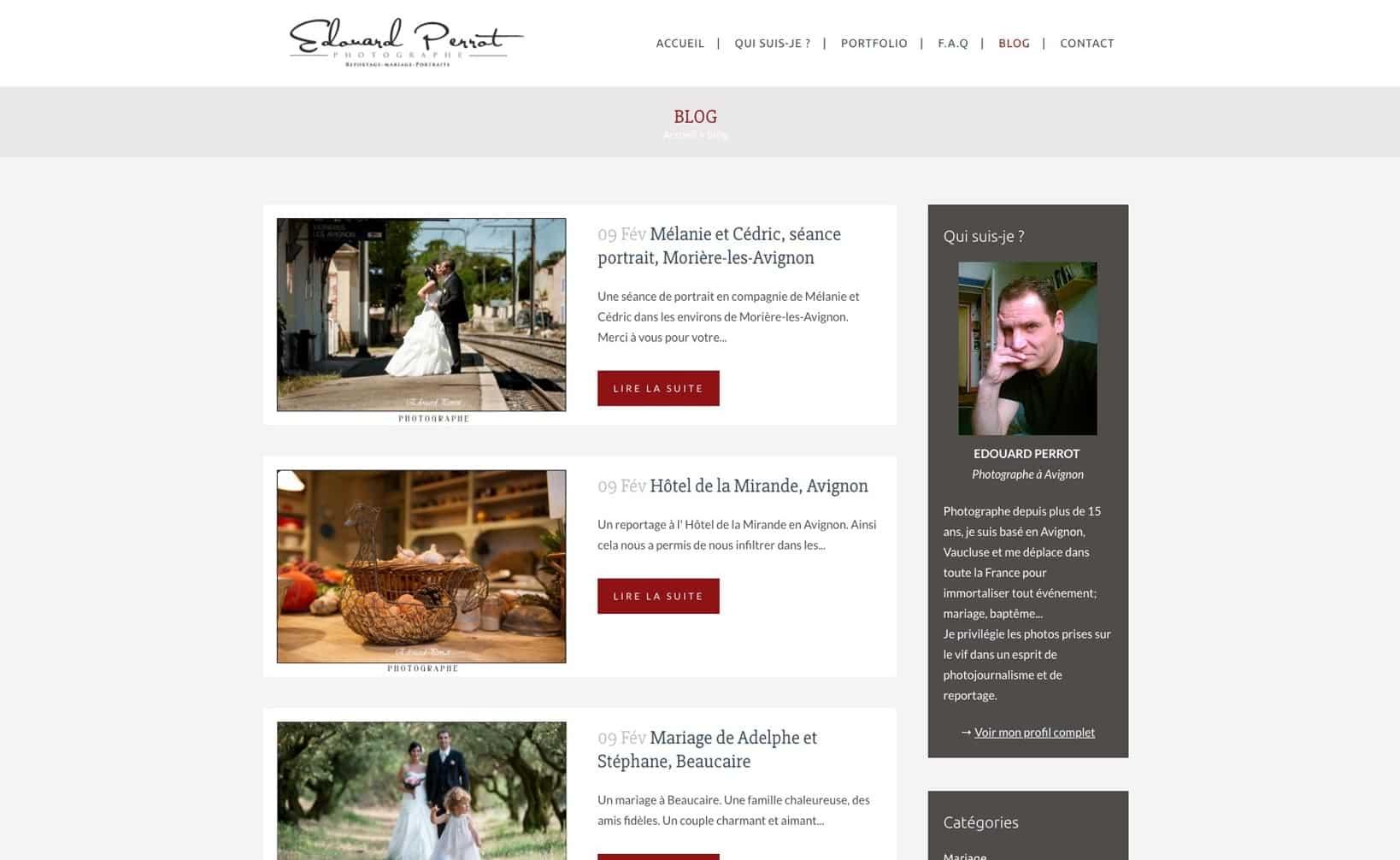 Site web Provence Photos - vue desktop 3