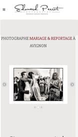 Site web Provence Photos - vue mobile 1