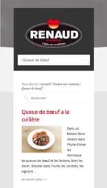 Site web Renaud Viandes - vue mobile 3