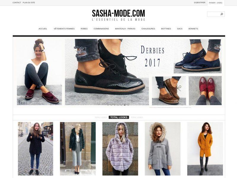 Site web Sasha Mode - Site 2013 - vue desktop 1