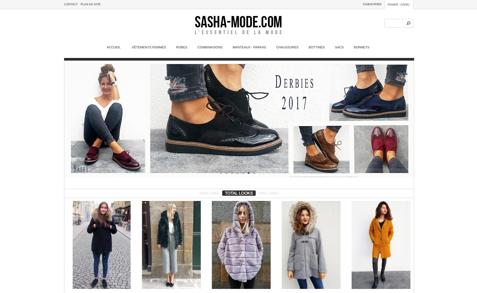 Site web Sasha Mode - Site 2013 - vue desktop 1
