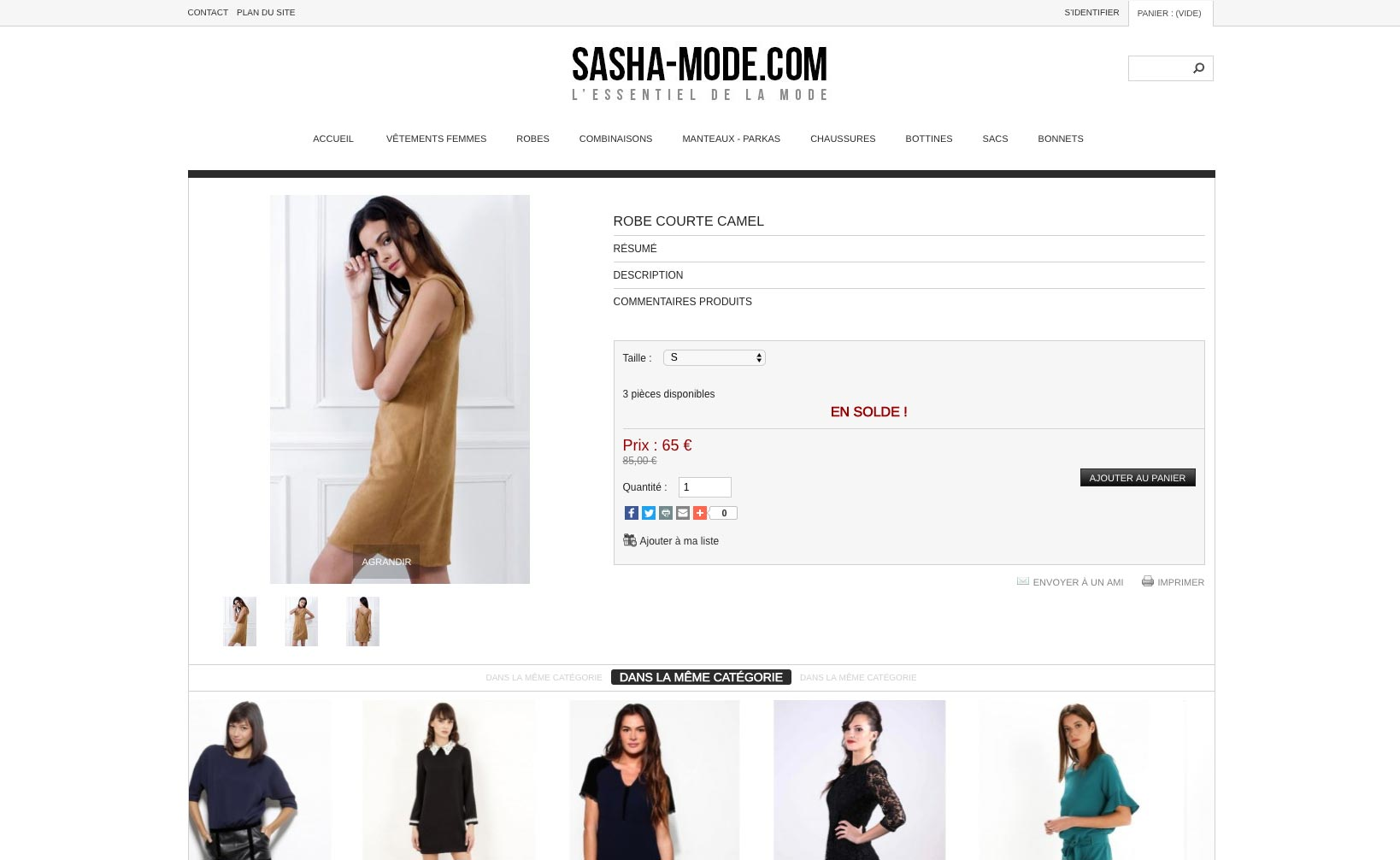 Site web Sasha Mode - Site 2013 - vue desktop 3