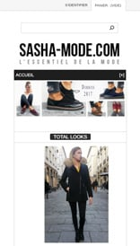 Site web Sasha Mode - Site 2013 - vue mobile 1