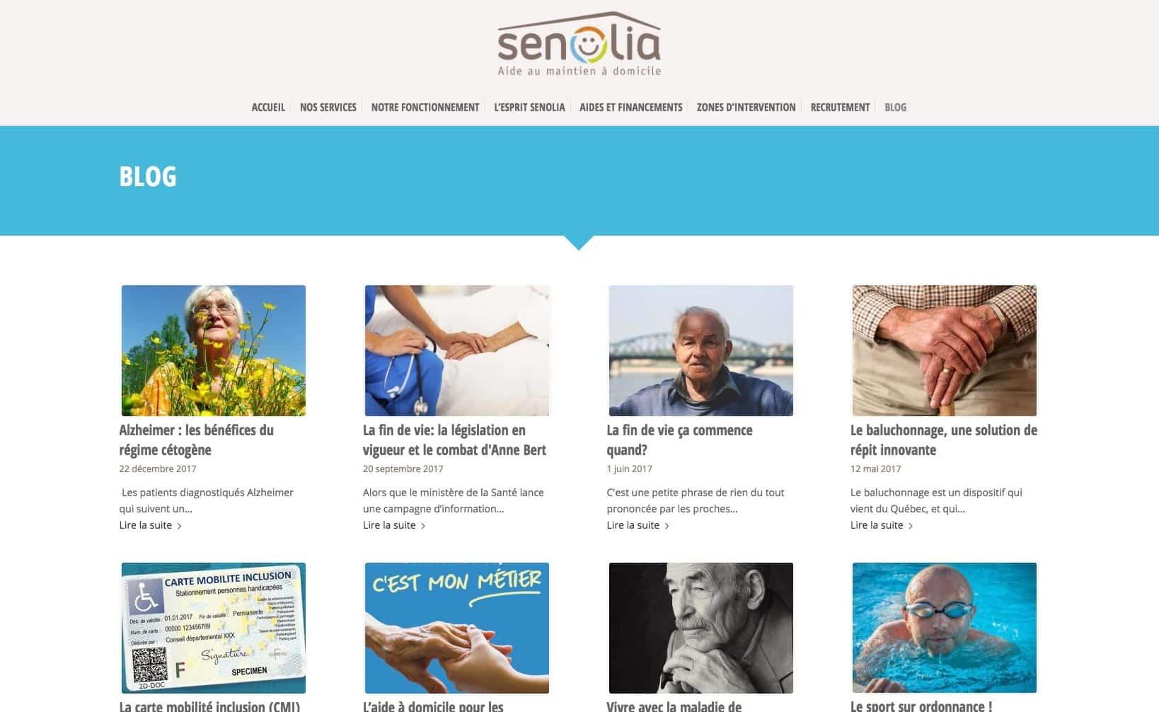 Site web Senolia - vue desktop 3