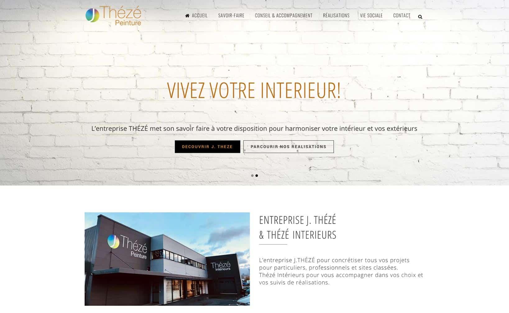 Site web Thézé Peinture - vue desktop 1