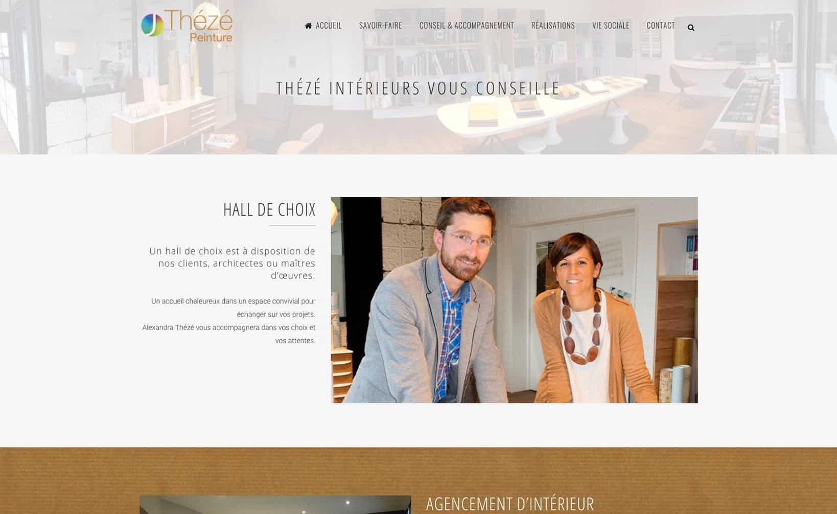 Site web Thézé Peinture - vue desktop 3