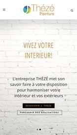 Site web Thézé Peinture - vue mobile 1