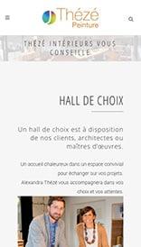Site web Thézé Peinture - vue mobile 2