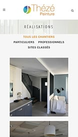 Site web Thézé Peinture - vue mobile 3