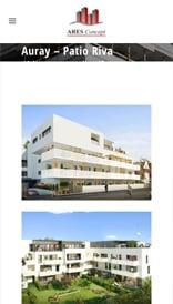 Site web Ares Concept - vue mobile 2