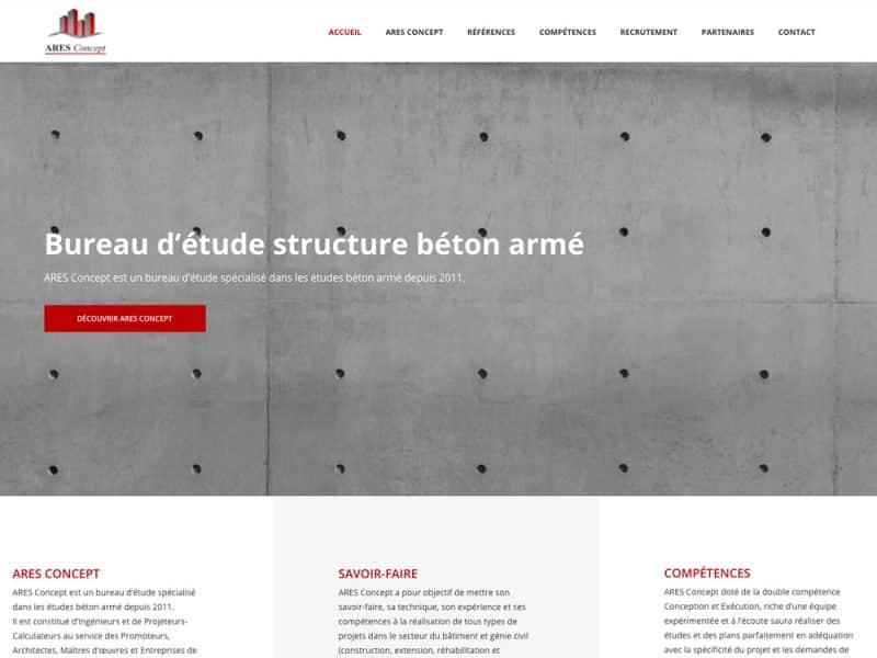 Site web Ares Concept