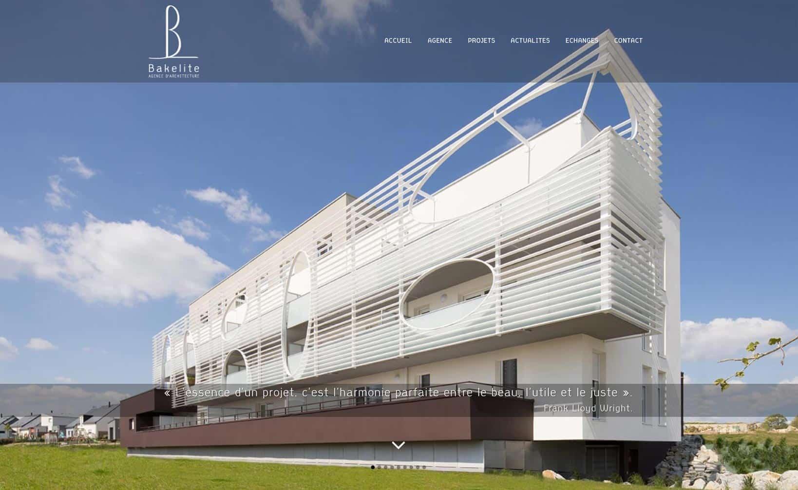 Site web Bakelite Architecture - vue desktop 1