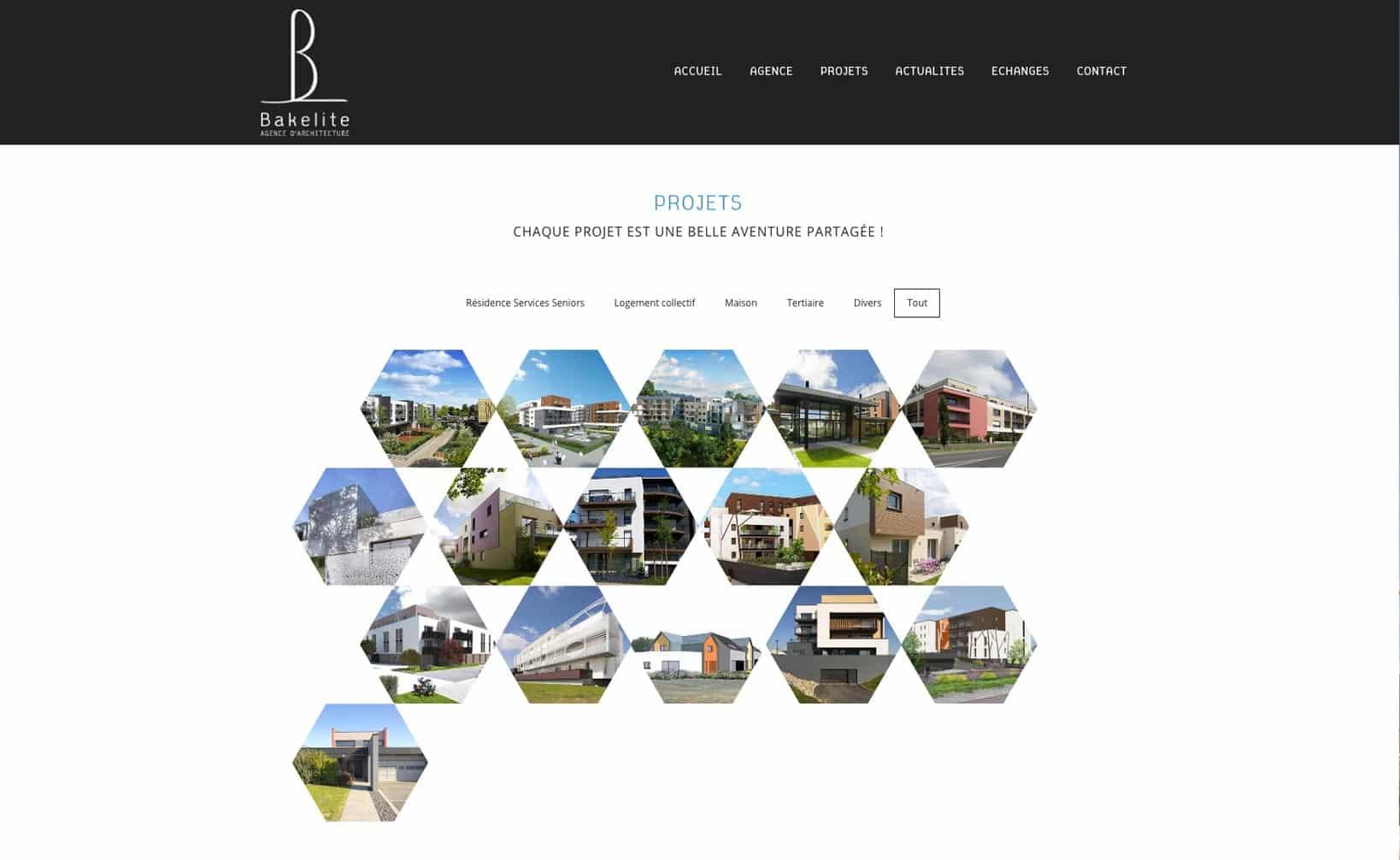 Site web Bakelite Architecture - vue desktop 2