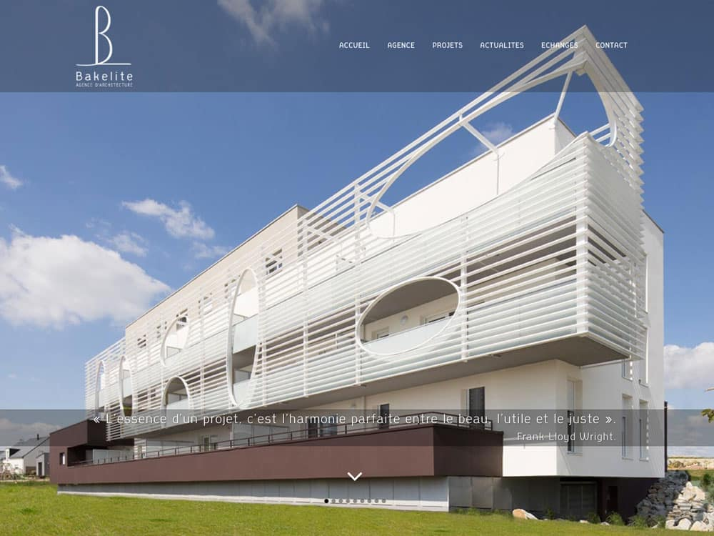 Site web Bakelite Architecture