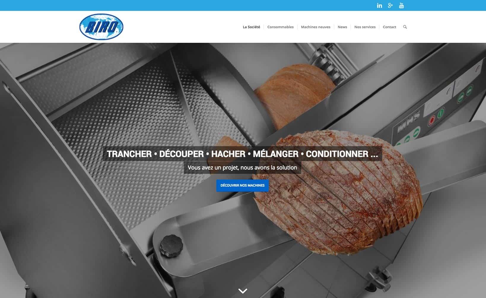 Site web Biro - vue desktop 1